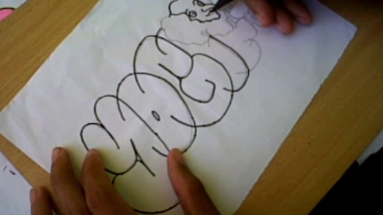 Graffiti Bubble Yogi