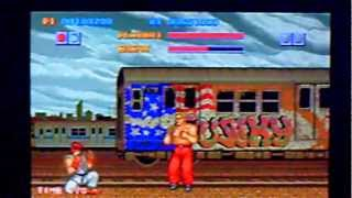 Street Fighter Gameplay on PSP Slim (Capcom Classic Collection: Remixed)
