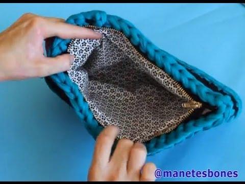 C mo forrar un bolso de trapillo tutorial diy youtube - Como forrar muebles con tela ...