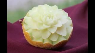 #12 Бесплатный курс резьбы по дереву цветок лотоса - уроки карвинга и декорирования для начинающих