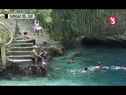Enchanted River sa Surigao del Sur, silipin
