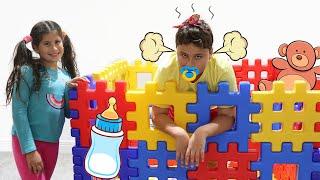 Maria Clara é como uma babá para o JP 👶 Pretend to play nanny!!!
