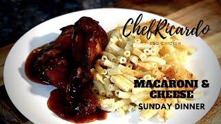 How to make MACARONI & CHEESE | How to make MACARONI & CHEESE WITH BBQ CHICKEN SUNDAY DINNER !!