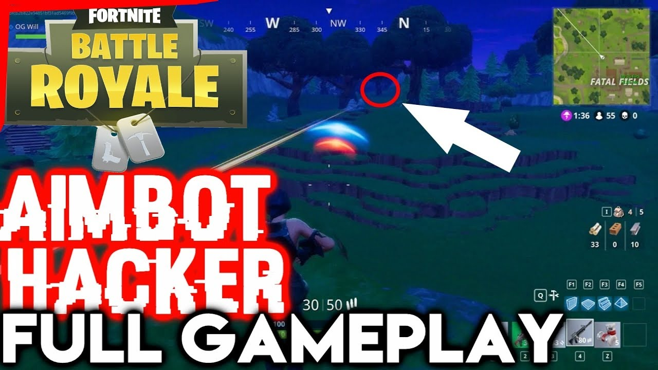 Fortnite Hacker AIMBOT 30+ Kills Full Gameplay - PVP Cheating (NOT ME) Fortnite Battle Royale