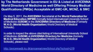 Apply for M.D. Degree Admissions for January 2012 Semester at IUSOM: Listed at AVICENNA Directory