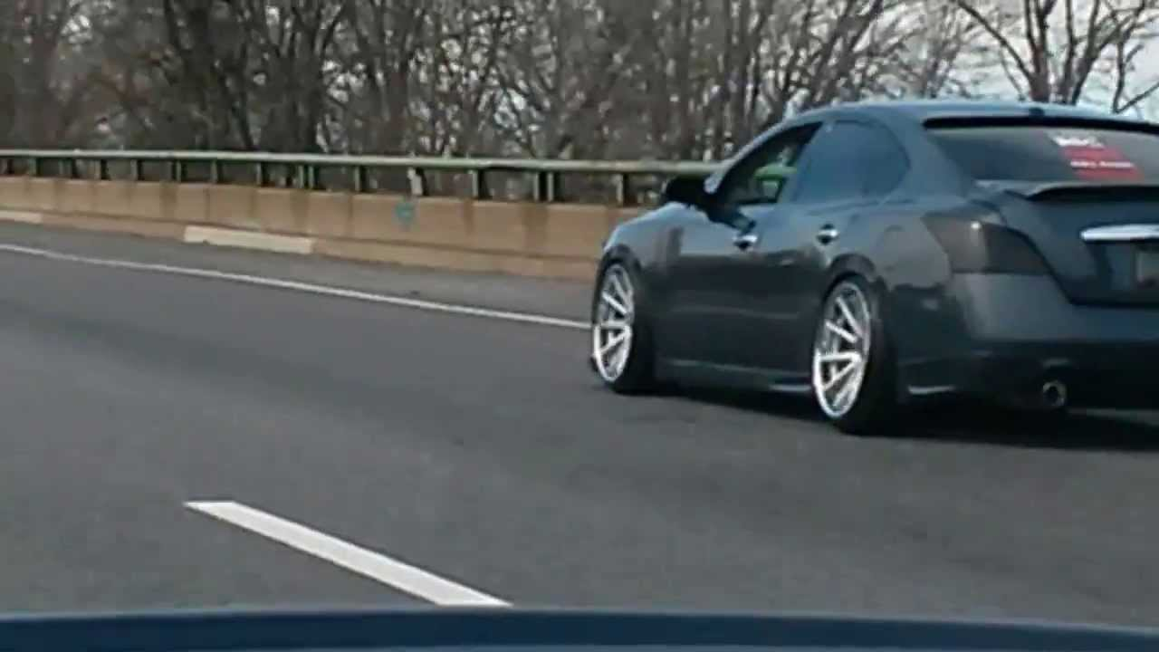 First ever 7th Gen Maxima on 11` Rims Front and Rears Part 2