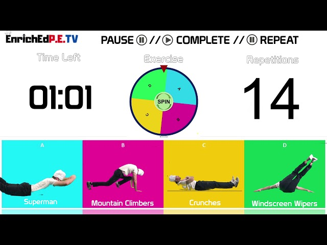 PE Chef S10E8: Fitness Spinner // Round #8