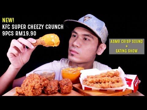 NEW! KFC SUPER CHEEZY CRUNCH 9PCS RM19.90 😱 | EATING SHOW MUKBANG W/ ASMR CRISP SOUND 🇲🇾 MALAYSIA