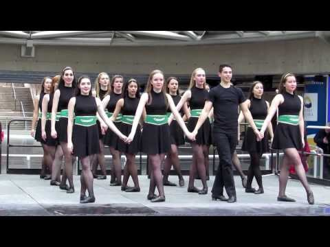 ( De Danaan school ) Irish Dance group - Celticfest Vancouver 2014 @ Downtown Robson Square