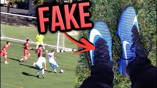 I used FAKE SUPERFLYS in a REAL GAME! (SCORED 2 GOALS) !!