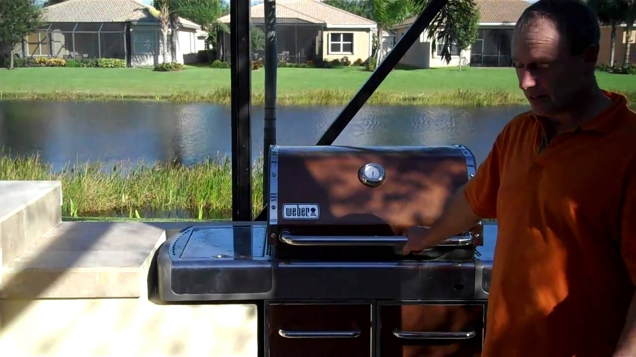 kitchen cart on wheels how much is a remodel outdoor kitchens with existing model barbecues - youtube