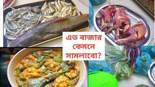 Bengali Vlog /আমার এই সপ্তাহের বাজার/বাজারের দিন কিভাবে রান্নাঘর সামলাই / BD Vlogger Toma