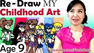 OLD Art VS NEW Art -  Re - Draw + Color my Childhood Art - Art Video