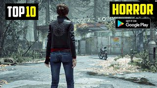 Top 10 HORROR Gaṁes for Android 2021   High Graphics (Offline/Online)