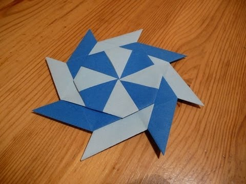 Paper Shuriken Instructions How To Make An 8 Sided...