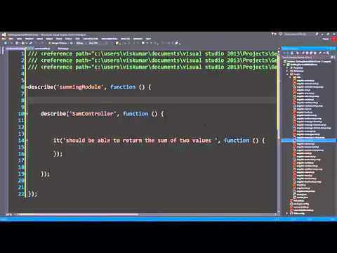 Getting Started with Unit Tests For Angular with Jasmine, Visual Studio and Chutzpah