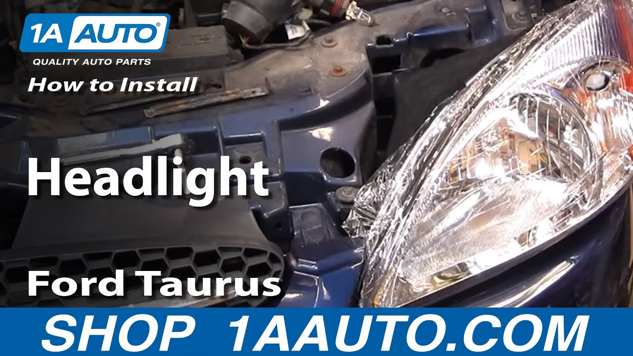 How to install replace headlight ford taurus 00 07 1aauto com youtube
