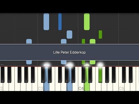 [Play/Sing] Lille Peter Edderkop (All Verses + Lyrics) Piano
