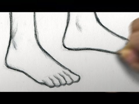 Easy Foot Drawing How To Draw Feet re upload Restore Audio
