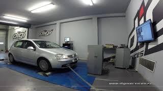 VW Golf 5 1.9 tdi 105cv Reprogrammation Moteur @ 142cv Digiservices Paris 77 Dyno
