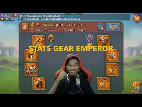 STATS ATTACK GEAR EMPEROR LUAR BIASAAAAAA !