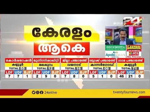 ജില്ലാ പഞ്ചായത്തുകളിൽ എൽഡിഫ്ന് അവിശ്വസനീയമായ കുതിപ്പ്   Local Boday Election Results