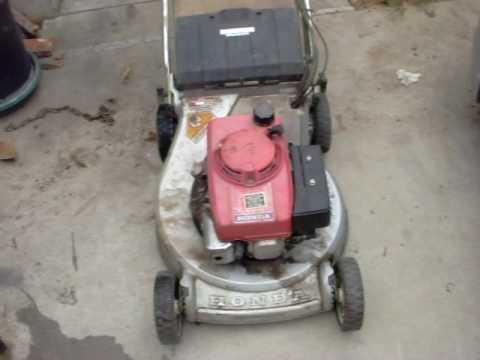 trash find honda hr commercial  propelled elec start mower youtube