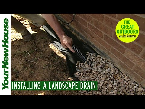 Keep Water OUT of Your House: Installing a Landscape Drain - The Great Outdoors