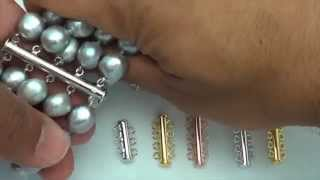 Triple Clasp Tube Clasp Safety Clasp Jewelry Detangler 2 or 3 Strand Clasp Double Clasp Jewelry Making Closures Sturdy Tube Clasp