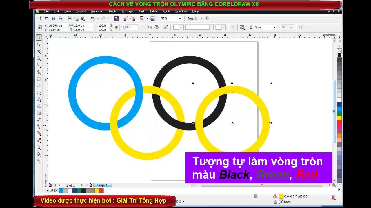 Cách Vẽ Vòng Tròn Olympic Bằng Coreldraw X6