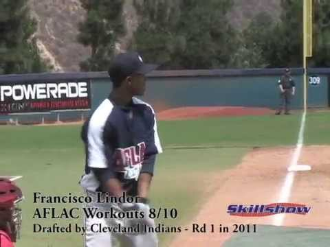 Francisco Lindor in HS; Drafted 1st rd by Indians in 2011