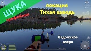 Русская рыбалка 4 - Ладожское озеро - Трофейная щука на джерки