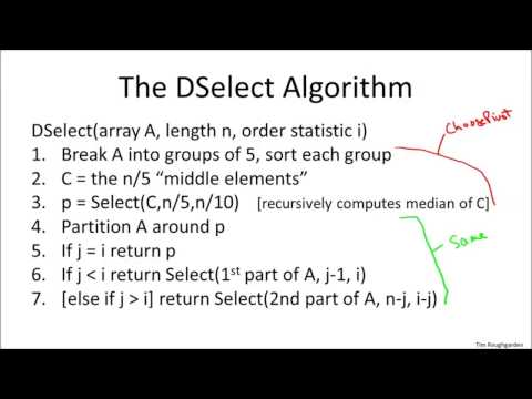 Deterministic Selection - Algorithm | Algorithm