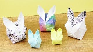 OSTER DEKO falten 🐇 Süße Osterhasen DIY Idee | Basteln mit Kindern | Frühlings Idee