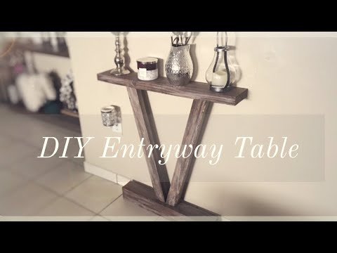 DIY| RUSTIC ENTRYWAY TABLE FOR LESS THAN $10!