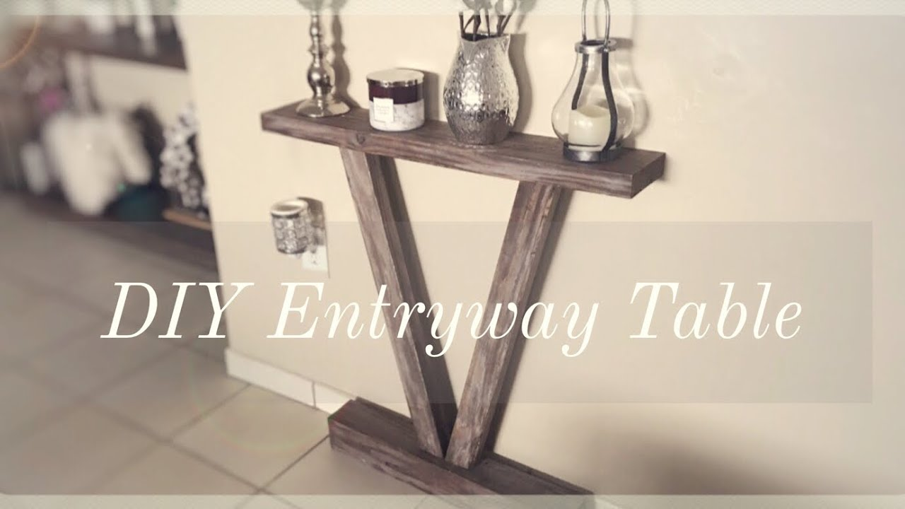 Diy Rustic Entryway Table For Less Than 10 Youtube