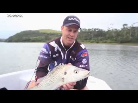 s2e24 Targeting Grunter on light tackle with Team Daiwa YouTube sharing