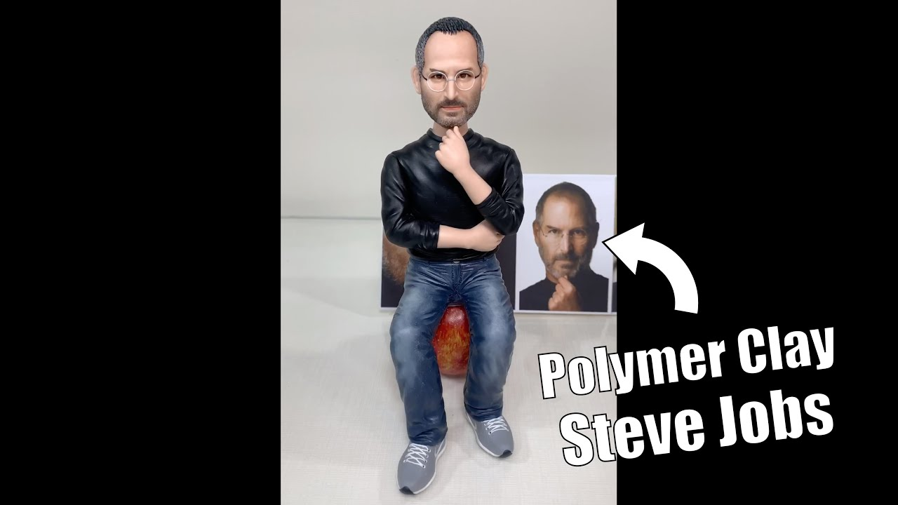 Steve Jobs made from polymer clay, sculpture timelapse【Clay Artisan JAY】#Shorts