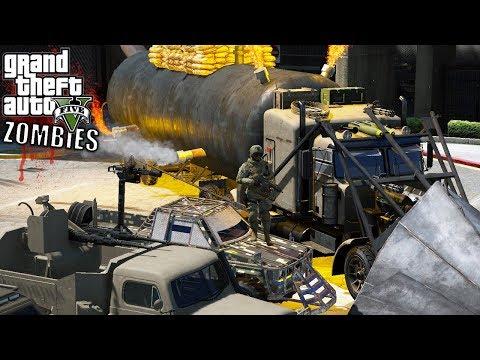 GTA 5|ZOMBIES Vs SOLDADOS #4 -  NUEVO REFUGIO + AUTOS  |EdgarFtw