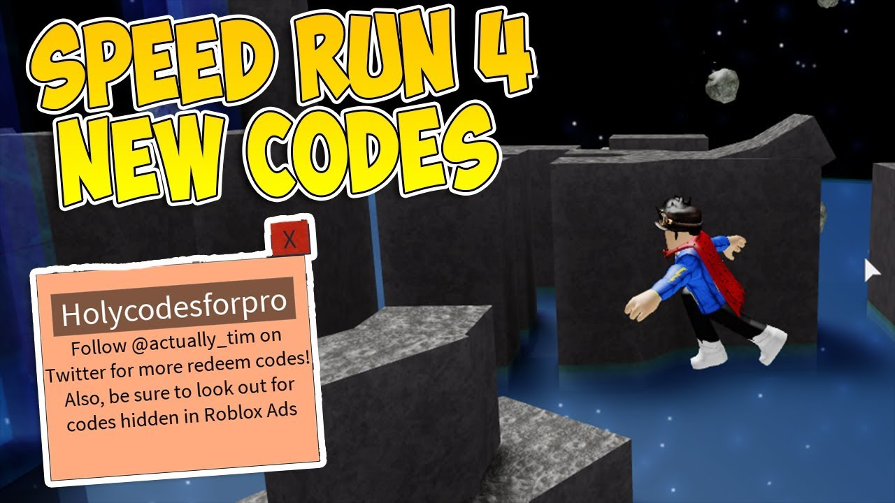 Speed Run 4 All New Codes 2020 Roblox By Raphbe