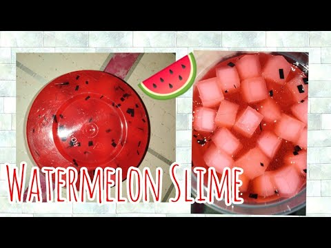 #188 Watermelon Slime 🍉❤️ // Late Upload 😍