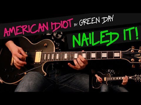 American Idiot - Green Day guitar cover by GV +chords