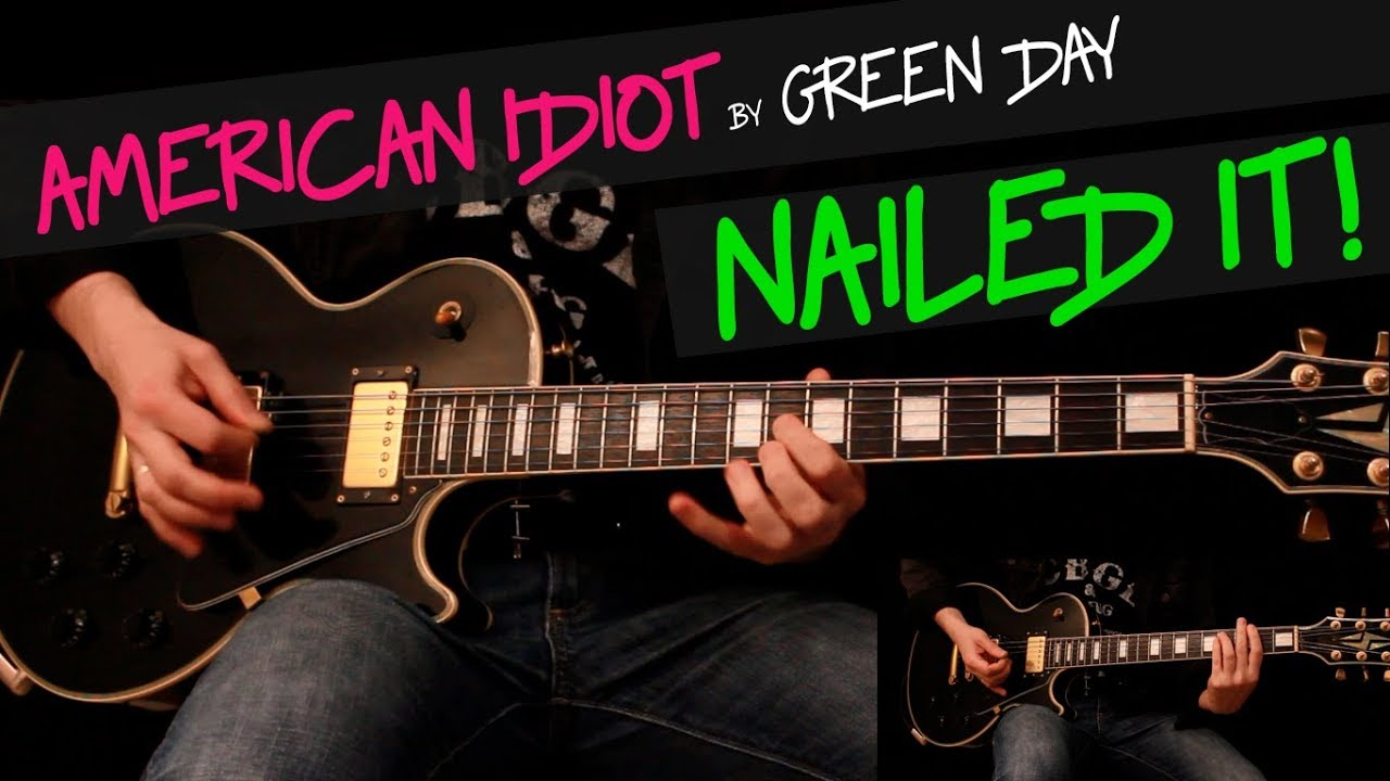American Idiot Green Day Guitar Cover By Gv Chords Youtube