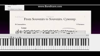 "D.ROUSSOS""From SOUVENIRS to SOUVENIRS""Pop song Easy Piano tutorial.Free sheets|Ноты Как играть|"