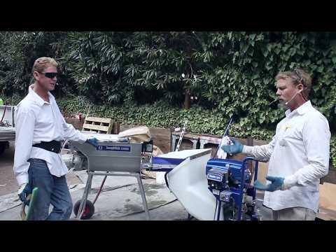 Graco's Mortar/stucco/plastering pumps modern stucco application