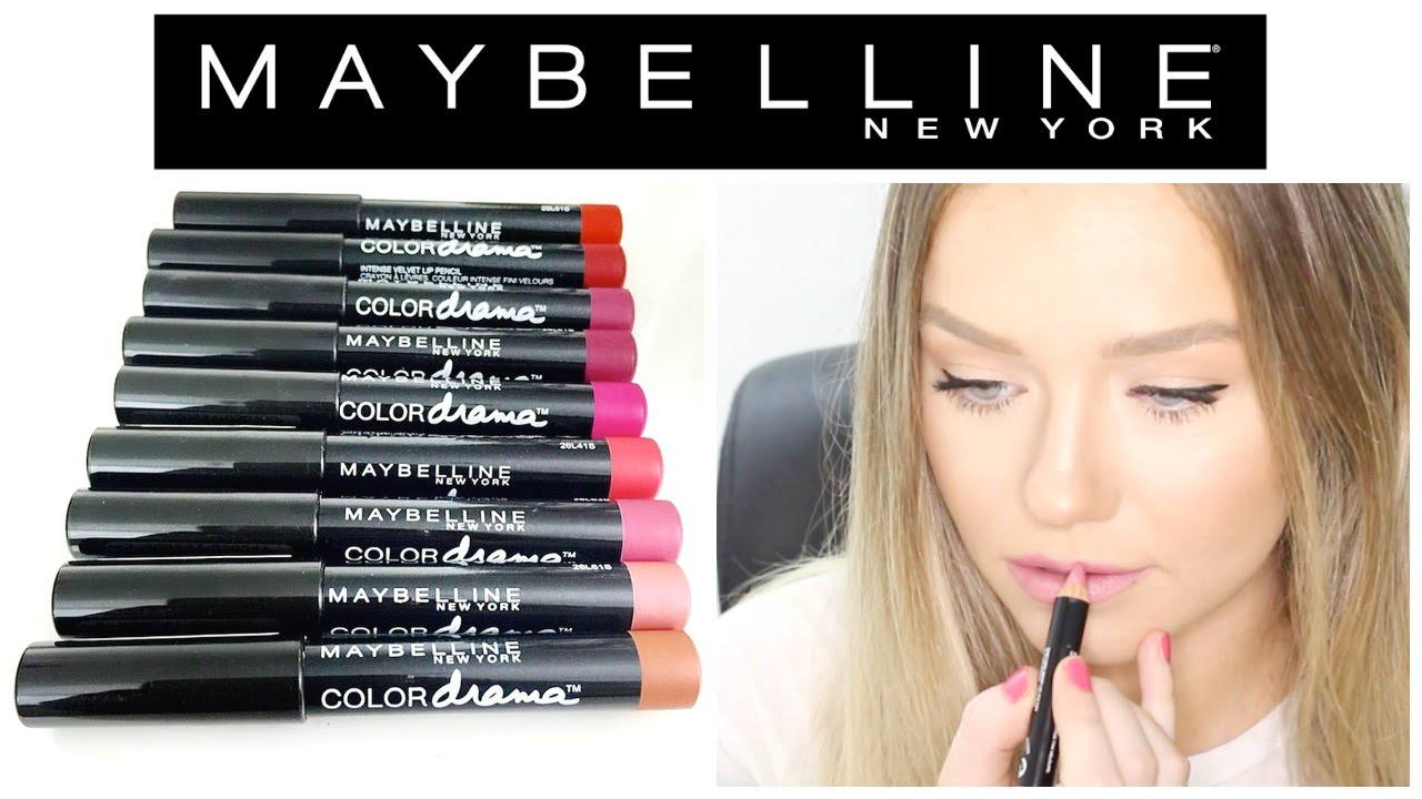 e78f745d761 Maybelline Color Drama Intense Velvet Lip Pencils- Swatches and Review |  Beauty.Life.Michelle - YouTube