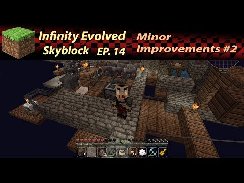 Minor Improvements - The magic of Automatic Gravel Sifting - Infinity Evolved/Skyblock Ep. 14