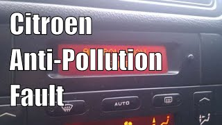 Citroen C5 2.2HDi anti-pollution warning, ESPR warning.