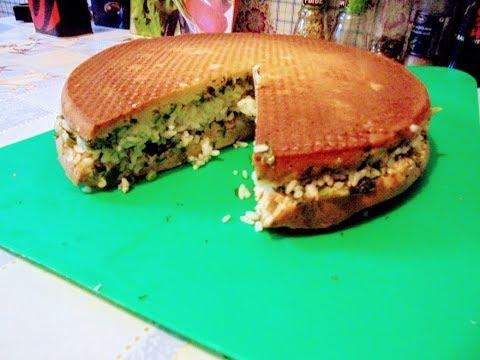 Выпечка - Пирог с горбушей,рисом и зеленью .