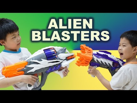 Incisor & Ravager - The NERF Alien Menace Blasters Review
